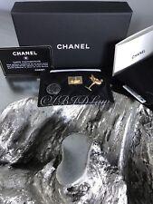 NWT CHANEL Black Lucky Charms Gold O-Card Holder O-Case Wallet NEW 2017 17A Rare