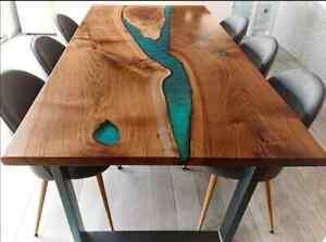 157cm x 81.3cm Harz Tisch, Epoxid Mitte Table Top, Epoxid Holz Tisch Dekoration