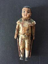 Antique Gold Baby Figurine Mini Doll Dress Ornate Vintage