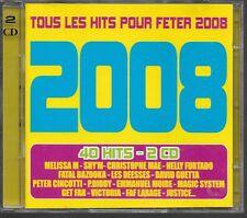 2 CD COMPIL 40 TITRES--HITS 2008--SHYM/FUFTADO/GUETTA/CINCOTTI/MOIRE/JUSTICE...