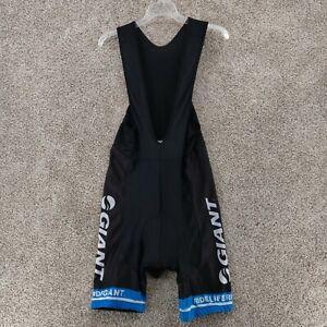 GIANT Cycling Bib Shorts Men's XXL Padded Black White Blue 2XL Ride Life EUC