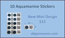 10 aquamarin generic munzee sticker pack ** versandkostenfrei **