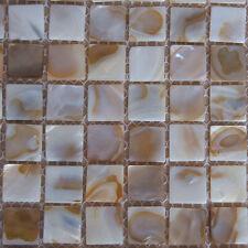 M O P River Bed Natural Pearl Shell Mosaic Tiles Squre Full Sheet 20*20mm # 718