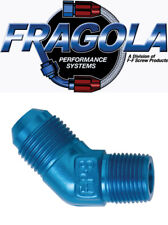 Fragola 482311 10 AN to 3/8 NPT Male 45 Degree Adapter Fitting IMCA USRA NHRA