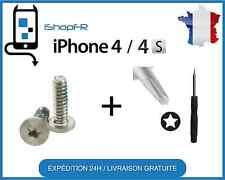 Kit lot de 2 vis du bas Iphone 4 et 4S + Tournevis