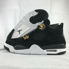 wholesale dealer b0e38 1b2d6 Nike Air Jordan Retro 4 Royalty Black metallic Gold Youth Sz 6.5y 408452 032