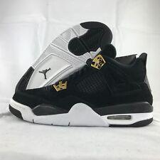 Nike Air Jordan 4 IV Retro BG GS Royalty Black Gold 408452-032 6Y-6.5Y NEW Youth