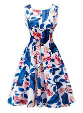 Summer Women Floral Print Sleeveless Evening Party Cocktail Bodycon Mini Dress-1