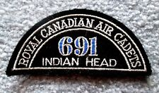 Vintage Royal Canadian Air Cadets 691 Indian Head Squadron Patch RARE! gslu1