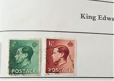 Great Britain 1936 King Edward Viii stamps x 2 halfpenny and one & half penny