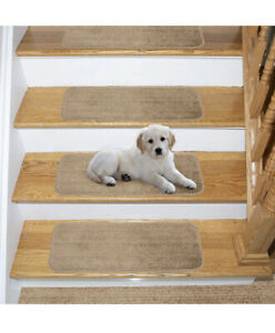 NEW Ottomanson SST Softy Stair TREADS, Beige, 13 Count - Retail $52 Non Slip