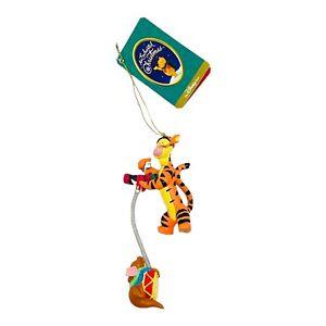 Vintage Disney Winnie the Pooh Tigger/Roo Spring Christmas Ornament