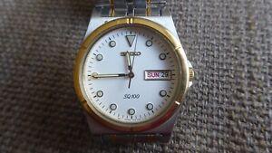 Men's SEIKO SQ100 Quartz Watch - 6 month warranty - 7N43-8200 Very good used