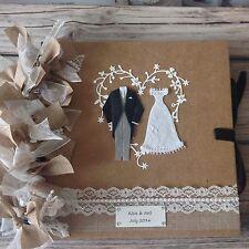 Hessian Burlap Wedding GUESTBOOK / SCRAPBOOK PERSONALISED FOR YOU