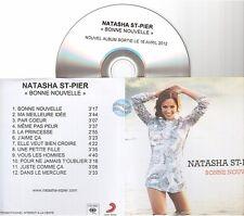 NATASHA ST PIER bonne nouvelle CD ALBUM PROMO pochette papier