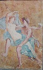 Ancienne aquarelle couple femme Nu Antique signé école Italienne Naples XIXe