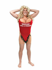 Mens Fancy Dress Hairy Mary Lifeguard Novelty Fun Costume 90s Swimsuit