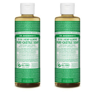 Dr Bronners Castile Liquid Soap Natural Organic Vegan 2x237ml All Flavours