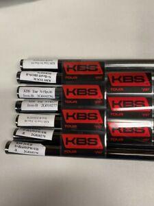 New KBS Tour Black Nickel Stiff+ Flex Iron Steel Shafts .355 125G Choose Set