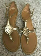 Coach Wedge Sandals Metallic Gold shoes US 8
