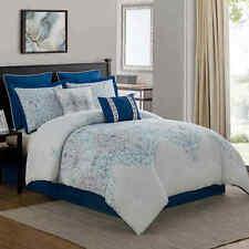 Verona 8-Piece Comforter Set in Navy, King