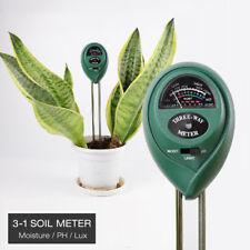 3 in 1 Soil PH Tester Water Moisture Sun Light Test Meter for Garden Plant Lawns