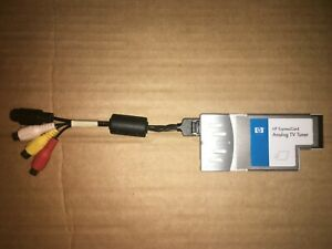 HP ExpressCard Analog TV Tuner Model: EC680 + RCA Cable