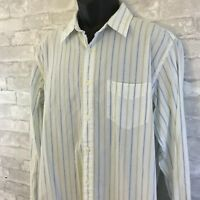 American Eagle Men's L/S Button Down Striped Long Sleeve Shirt Size Large