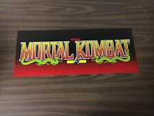 Mortal Kombat Video Arcade Game Marquee, Midway 1992