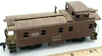 HO Scale Train New York Central NYC 21273 Brown Caboose Weathered Look