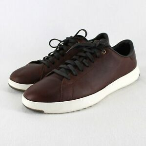Cole Haan GrandPro Leather Sneakers Mens Sz 9 M Brown Casual Lace Up Shoe C28281