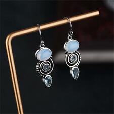 Stud Peridot Multi-Gemstone Moonstone Earrings Jewelry Chic Dangle Topaz Ear