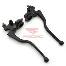 Motorcycle Clutch & Brake Lever Set with Perch Cable For Honda Aluminum FXCNC