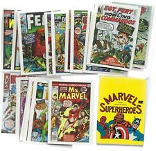 1984 TOPPS MARVEL SUPERHEROES SET MINT FACTORY  PERFECT FIRST ISSUE COVERS W/SP