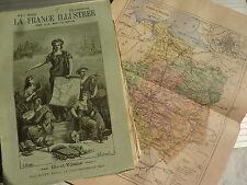 France illustrée - MALTE BRUN - fasc texte carte gravures Dépt : ILLE et VILAINE