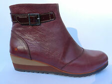 Art Michigan 084 Chaussures Femme 41 Bottes Bottines Montantes Bordeaux Wine New