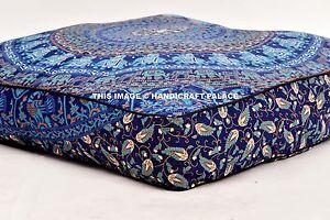 Elephant Mandala Square Floor Pillow Cover Cushion Sham Indian Large Dog Cat Bed