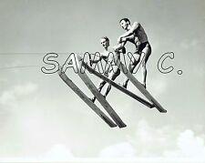 1950's ALFREDO MENDOZA & DICK POPE Jr. PHOTO CYPRESS GARDENS JUMP WATERSKIING