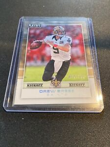 2017 Panini Playoff Drew Brees Ebay 1/1 one of one 09/299 Saints NFL Football