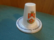 RHOS ON SEA WALES CREST MODEL OF A WELSH HAT LONGEST NAME VICTORIA CRESTED CHINA