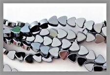4mm Hematite Flat Heart Beads (110+ per strand)