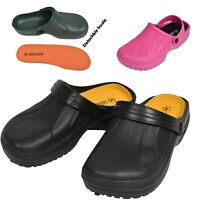 Ladies Womens Garden Clog Sandals Work Holiday Mule Shoes Sizes UK 4 5 6 7 8