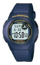 Casio F200W-2B, 10 Year Battery Chronograph Watch, Blue Strap, Alarm,Illuminator
