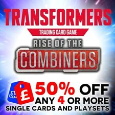 TRANSFORMERS TCG WAVE 2 BATTLE CARDS RISE OF THE COMBINERS - SINGLES + PLAYSETS