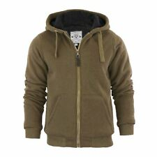 Mens Hoodie Brave Soul Zone Sherpa Fleece Lined Zip Up Hooded Sweater