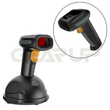 Automatic Wireless/Wired Bluetooth Barcode Scanner Gun With Usb Cable Stand