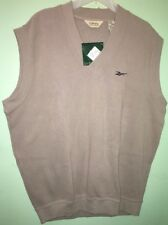 Men's Vintage Reebok Golf Pullover Vest Tan Color NWT Cotton Size XL