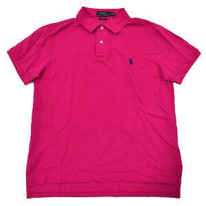 Polo Ralph Lauren Mens Polo Shirt Mesh Custom Fit Pony Logo New S M L Xl New