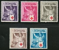 Romania 1941 MNH Mi 696-700 Sc B164-B168 Romanian Red Cross *** WW2
