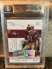 2002 Playoff Prime Signatures Autographs Terrell Owens BGS 9